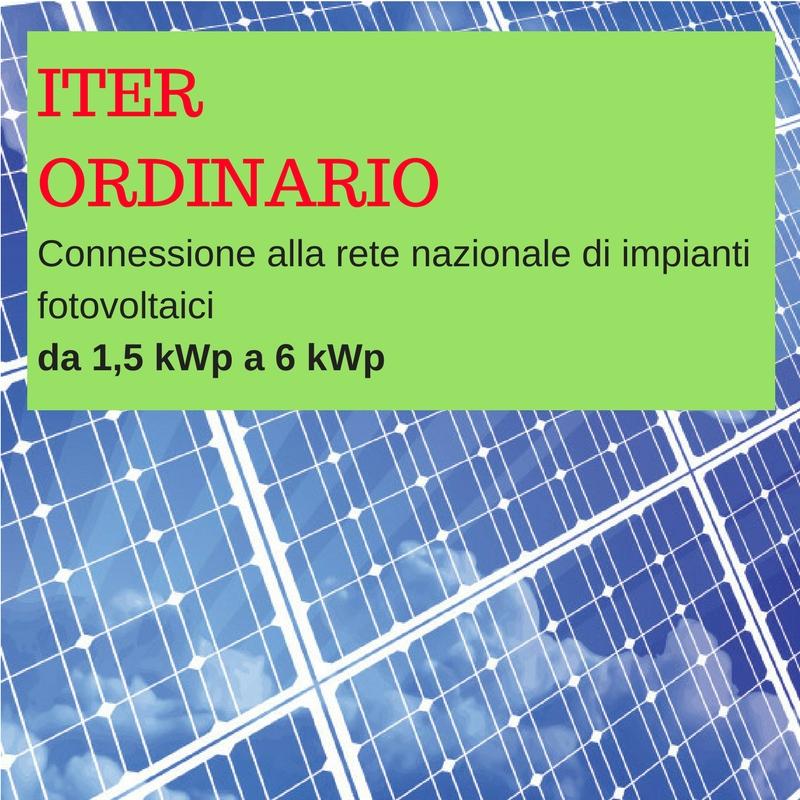 Pratica Di Connessione Impianto Fotovoltaico Iter Ordinario Bg