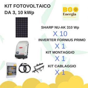 BGEnergia KIT fotovoltaico SHARP_FRONIUS
